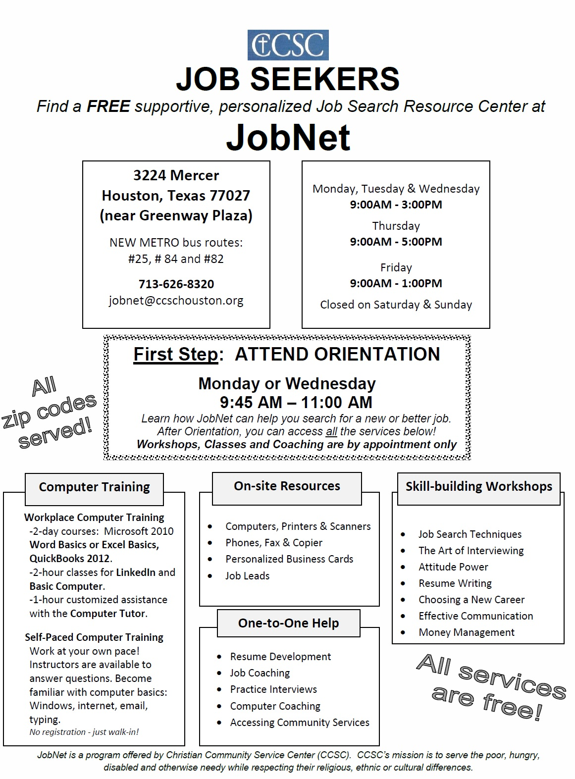 The job opportunities network near northwest management district take computer classes and get computer lab assistance to help you on your path to employment see more information online at ccschouston aiddatafo Gallery