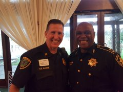 Captain Dan Harris (Houston Police Department North Division) and Assistant Chief Lofton Harrison (Harris County Precinct One Constables Office)