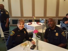 Assistant Chief Wendy Baimbridge (Houston Police Department) and Captain J. G. Bryant (Houston Police Department Northwest Division)