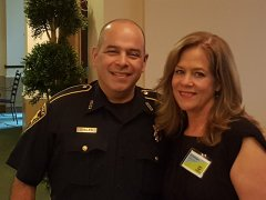 Constable Rudy Guillen (Harris County Precinct One Constables Office) and Jan Whittington (NNMD Staff)