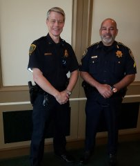 Commander Stevens (HPD) and Deputy Huber (Constable Office Precinct 1).