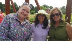 Eileen (far left) and Jan (far right)