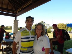 Jan Whittington with Disc Golf Champion