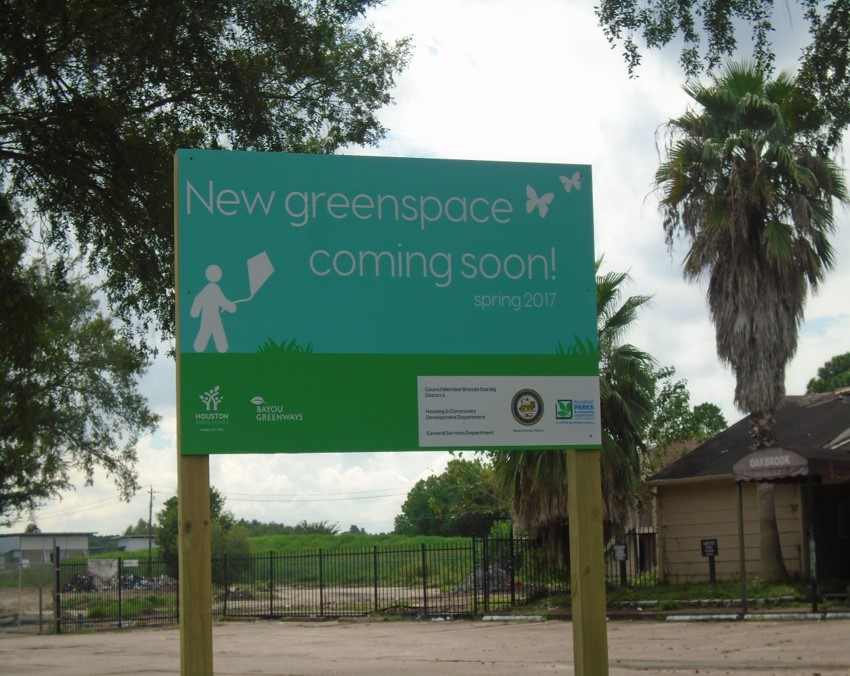 new greenspace sign