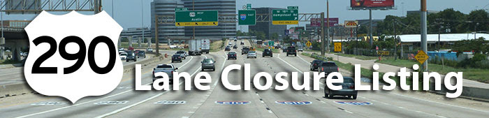 290 Lane Closure listing