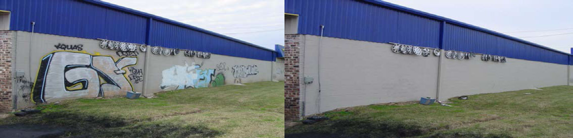 graffiti abatement before and after
